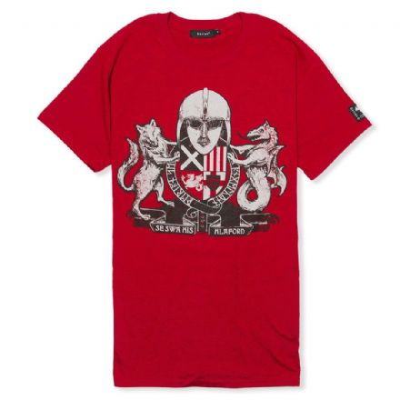 Englisc Arms T-Shirt  - Antique Red